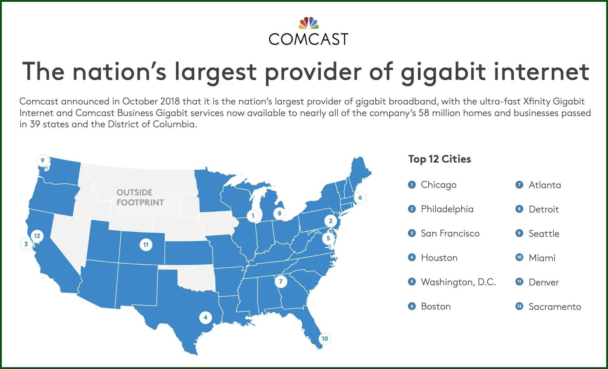 Xfinity Internet Coverage Map