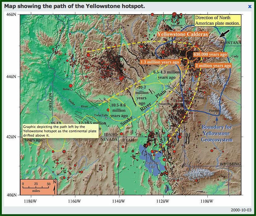 Yellowstone Supervolcano Damage Map