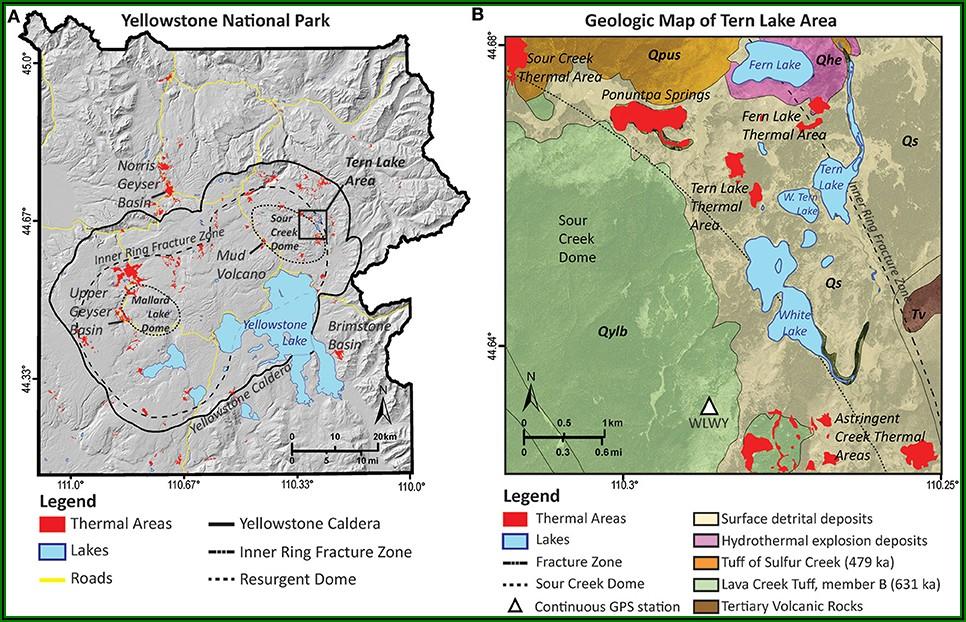 Yellowstone Supervolcano Eruption Map