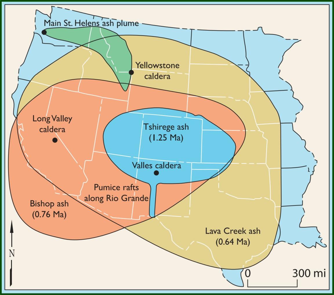 Yellowstone Supervolcano Fallout Zone