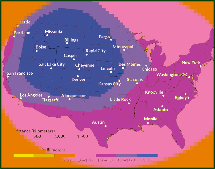 Yellowstone Supervolcano Map Of Destruction